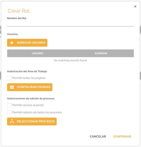 Añadir rol | Autorización de páginas y procesos