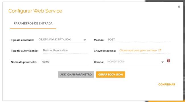 Exemplo de configuração web service