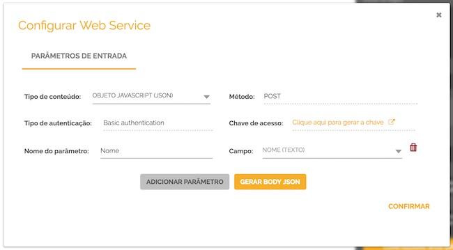 Parametros de web services do HEFLO