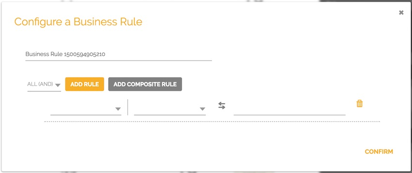 Configuration of Business Rules