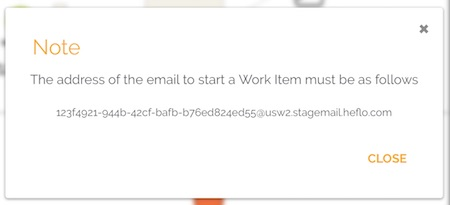 Mailbox address to start a business process by email
